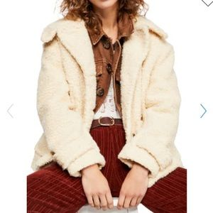 NWT Free People So Soft Faux Shearling Teddy Coat